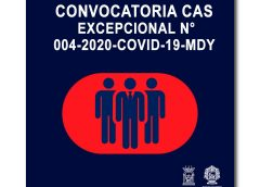 CONVOCATORIA CAS EXCEPCIONAL N° 004-2020-COVID-19-MDY 01-OM-URH